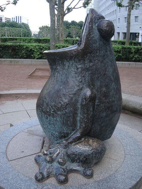 Statue de grenouille