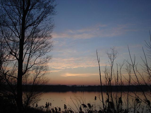 Lac de Bordeaux juste après le coucher de soleil