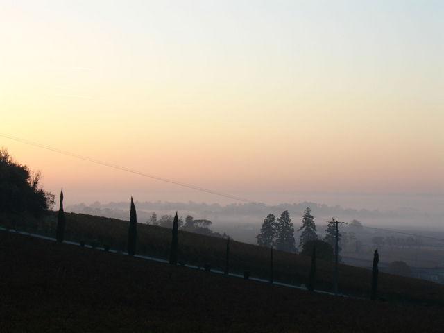 Lever de soleil vers St Emilion
