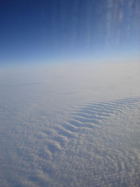 Mer de nuages vue d'avion