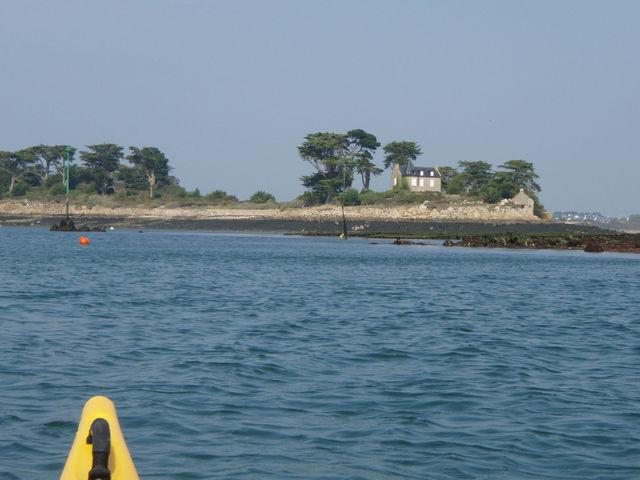 Golfe du Morbihan vu d'un kayak