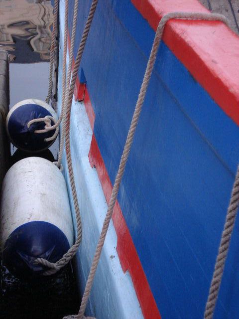 Détail d'uune coque de bateau