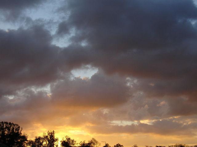 Début du coucher ce soleil, autre prise de vue
