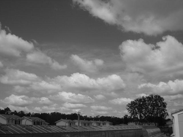 Ciel en noir et blanc