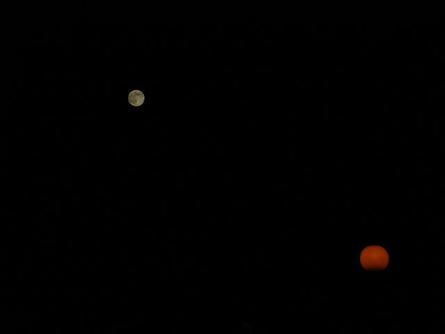 Lune et lampadaire