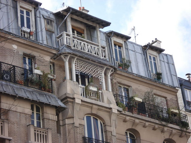 Appartement avec balcon, à Paris