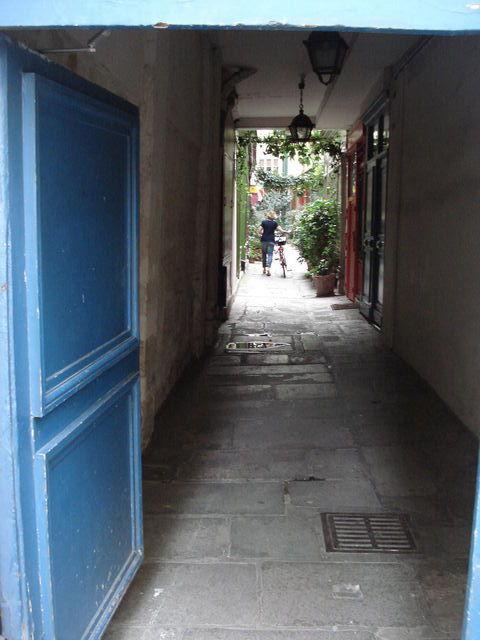 Petit passage arboré dans Paris